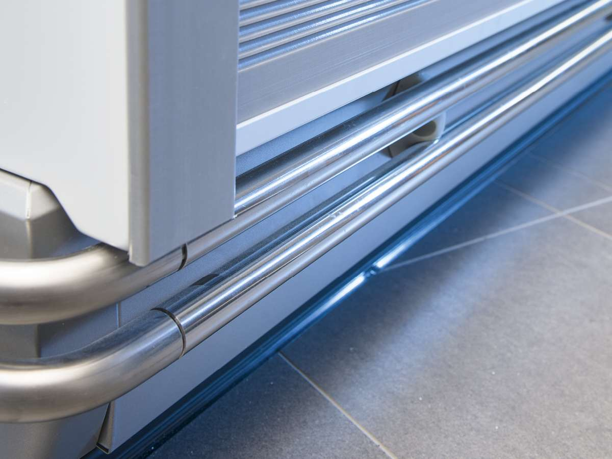 kühlmöbel glasabdeckungen rollosysteme PAN-DUR eco-semi-s